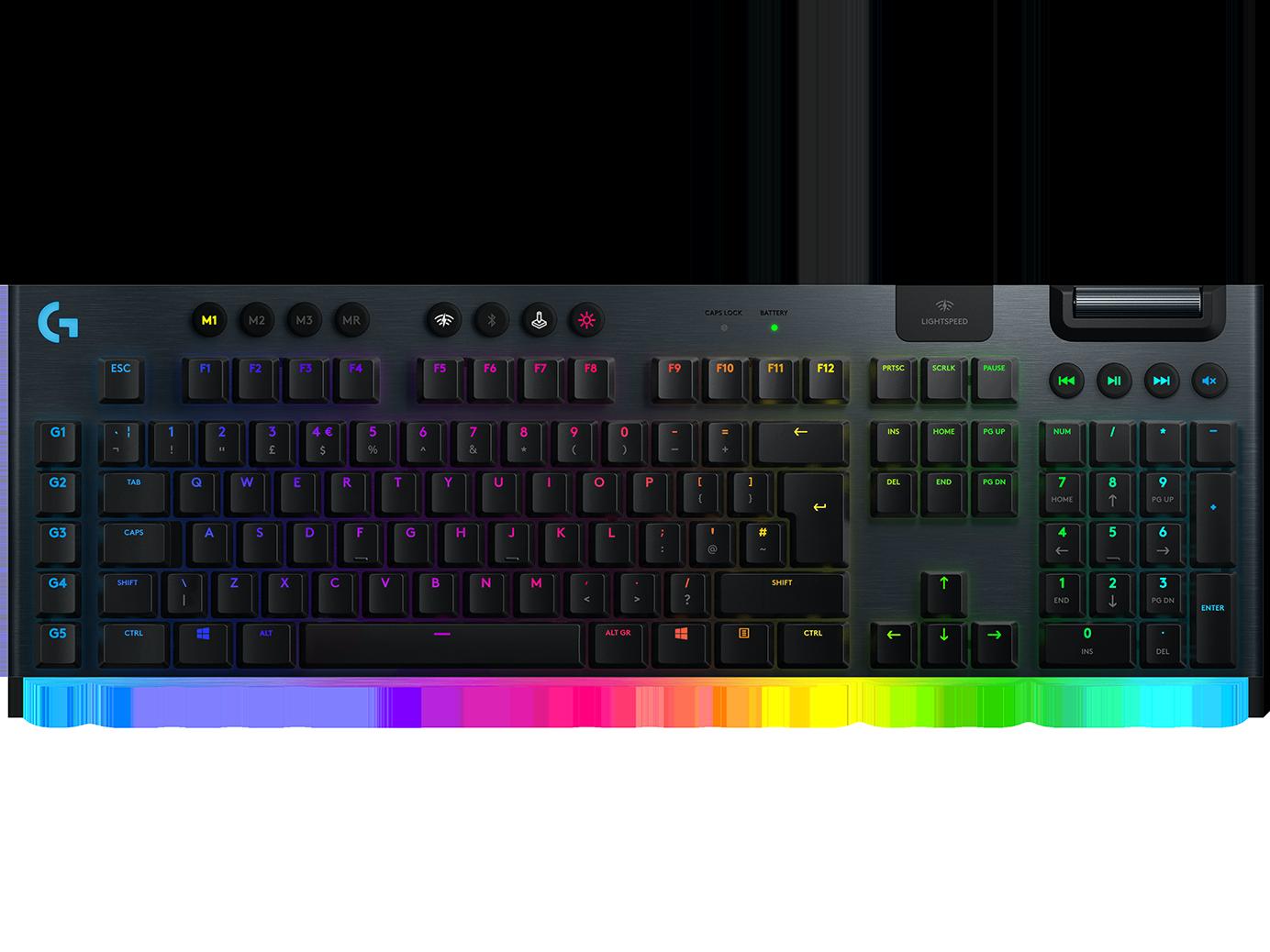 G915 | Kabellose mechanische LIGHTSPEED RGB Gaming-Tastatur